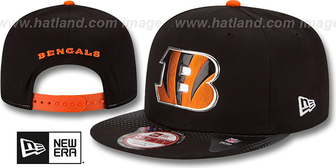 Bengals '2015 NFL DRAFT SNAPBACK' Black Hat by New Era : pictured without stickers that these products are shipped with