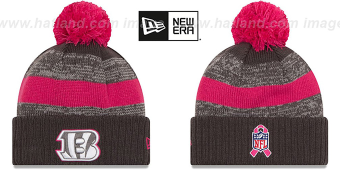 Bengals '2016 BCA STADIUM' Knit Beanie Hat by New Era : pictured without stickers that these products are shipped with