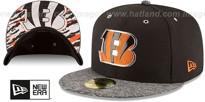 Bengals '2016 NFL DRAFT' Fitted Hat by New Era : pictured without stickers that these products are shipped with