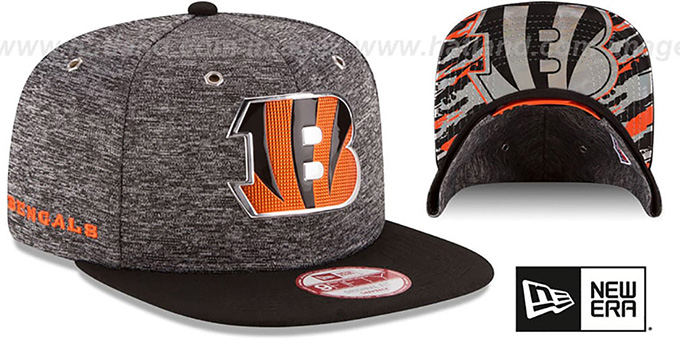 Bengals '2016 NFL DRAFT SNAPBACK' Hat by New Era : pictured without stickers that these products are shipped with