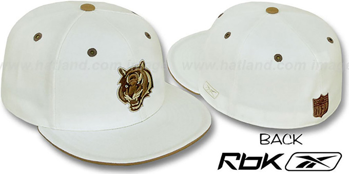 Bengals 'KOLORS' Bone Fitted Hat by Reebok : pictured without stickers that these products are shipped with