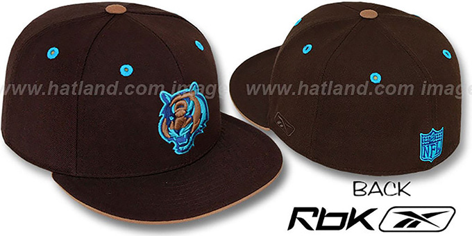 Bengals 'KOLORS' Brown Fitted Hat by Reebok : pictured without stickers that these products are shipped with