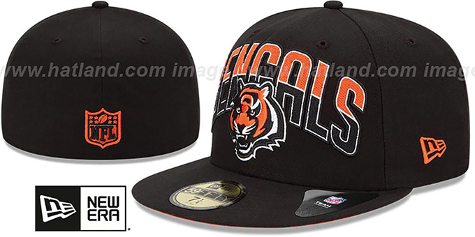 Bengals 'NFL 2013 DRAFT' Black 59FIFTY Fitted Hat by New Era : pictured without stickers that these products are shipped with