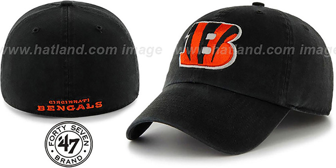 Bengals 'NFL FRANCHISE' Black Hat by 47 Brand : pictured without stickers that these products are shipped with