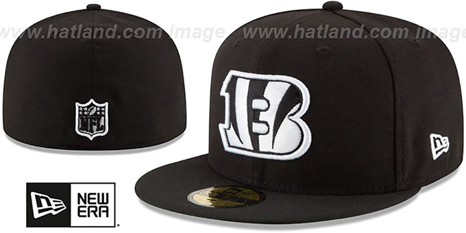 Bengals 'NFL TEAM-BASIC' Black-White Fitted Hat by New Era
