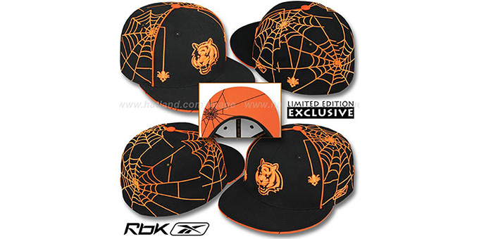 63aace5f950d9 Cincinnati Bengals SPIDERWEB Black Fitted Hat by Reebok