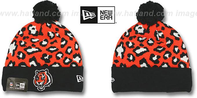 2ba8e7080a4 Cincinnati Bengals WINTER-JUNGLE Knit Beanie Hat by New Era