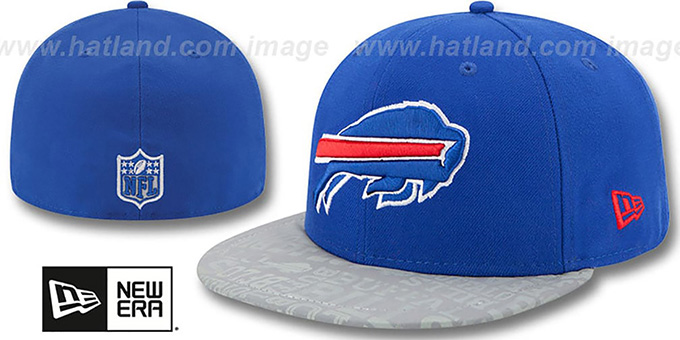 Bills '2014 NFL DRAFT' Royal Fitted Hat by New Era : pictured without stickers that these products are shipped with