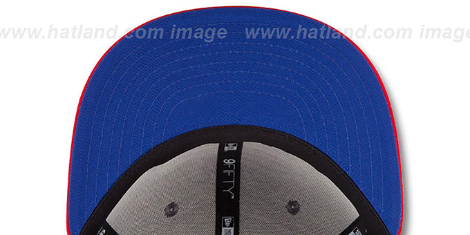 Bills '2014 NFL DRAFT SNAPBACK' Royal-Red Hat by New Era : pictured without stickers that these products are shipped with