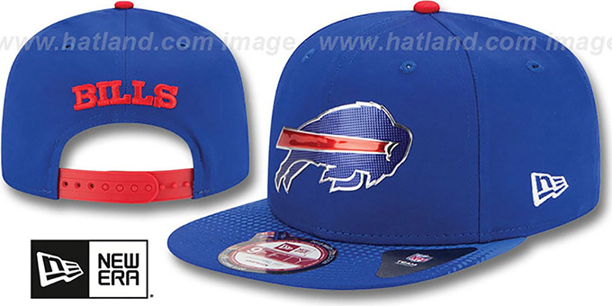 Bills '2015 NFL DRAFT SNAPBACK' Royal Hat by New Era : pictured without stickers that these products are shipped with