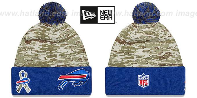 Bills '2015 SALUTE-TO-SERVICE' Knit Beanie Hat by New Era : pictured without stickers that these products are shipped with