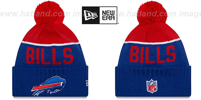 Bills '2015 STADIUM' Royal-Red Knit Beanie Hat by New Era : pictured without stickers that these products are shipped with