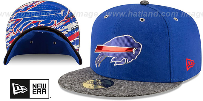 Bills '2016 NFL DRAFT' Fitted Hat by New Era : pictured without stickers that these products are shipped with