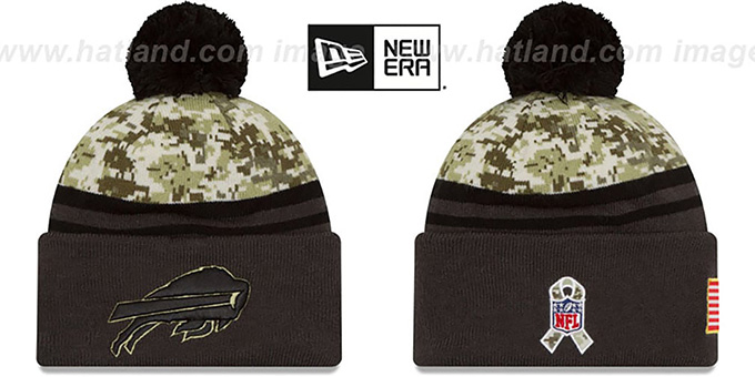 Bills '2016 SALUTE-TO-SERVICE' Knit Beanie Hat by New Era : pictured without stickers that these products are shipped with