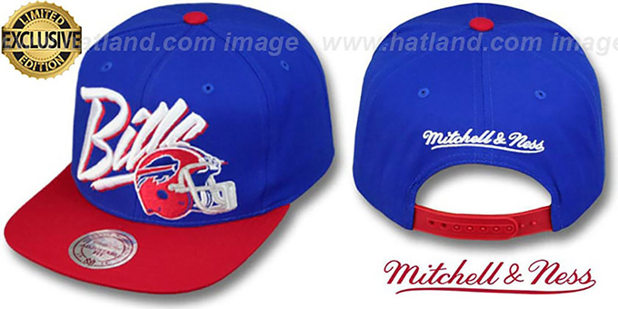Bills '2T VICE SNAPBACK' Royal-Red Adjustable Hat by Mitchell & Ness : pictured without stickers that these products are shipped with