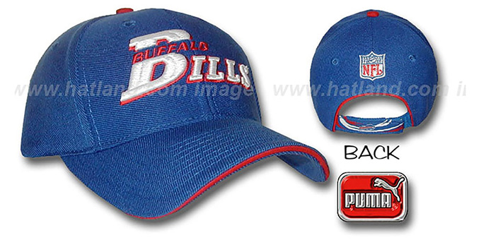 Bills 'CYCLONE' Hat by Puma : pictured without stickers that these products are shipped with