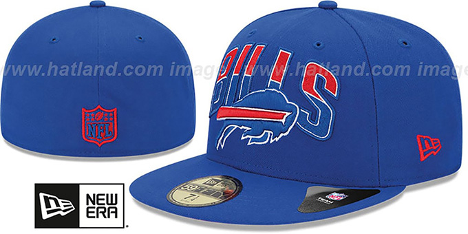 Bills 'NFL 2013 DRAFT' Royal 59FIFTY Fitted Hat by New Era : pictured without stickers that these products are shipped with