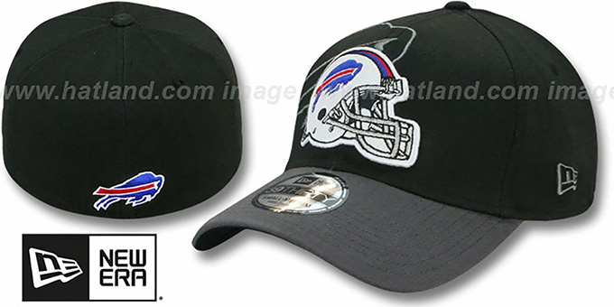 Bills 'NFL BLACK-CLASSIC FLEX' Hat by New Era : pictured without stickers that these products are shipped with
