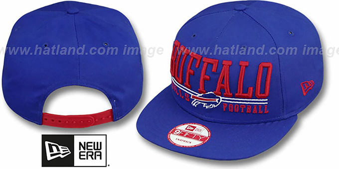 Bills 'NFL LATERAL SNAPBACK' Royal Hat by New Era : pictured without stickers that these products are shipped with