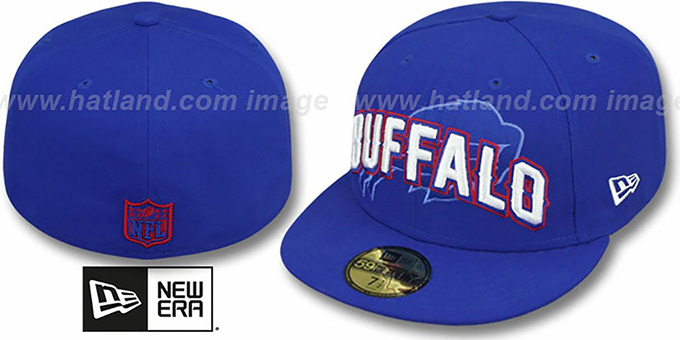 Bills 'NFL ONFIELD DRAFT' Royal Fitted Hat by New Era : pictured without stickers that these products are shipped with