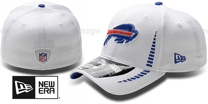Bills 'NFL TRAINING FLEX' White Hat by New Era : pictured without stickers that these products are shipped with