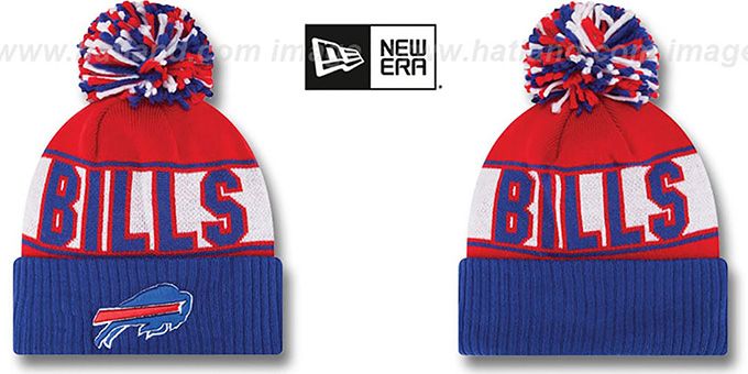 Bills 'REP-UR-TEAM' Knit Beanie Hat by New Era : pictured without stickers that these products are shipped with