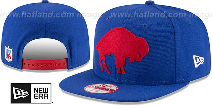 Bills 'RETRO-BASIC SNAPBACK' Royal Hat by New Era : pictured without stickers that these products are shipped with