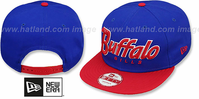 Bills 'SNAP-IT-BACK SNAPBACK' Royal-Red Hat by New Era : pictured without stickers that these products are shipped with