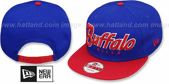 a4a87caa4830c Buffalo Bills SNAP-IT-BACK SNAPBACK Royal-Red Hat by New Era