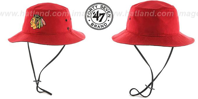 Blackhawks Hat 47 Brand Red Hat by Twins 47 Brand