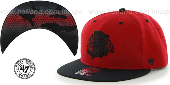 Blackhawks Hat 47 Brand Hat by Twins 47 Brand