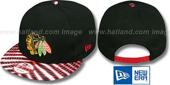 Blackhawks 'ZUBAZ SNAPBACK' Adjustable Hat by New Era : pictured without stickers that these products are shipped with