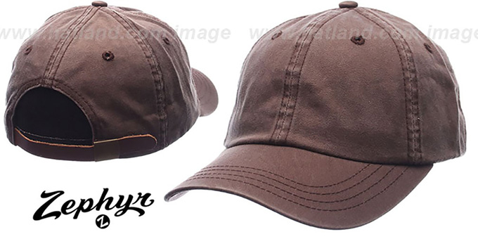 Blank 'DADDY STRAPBACK' Brown Hat Zephyr : pictured without stickers that these products are shipped with