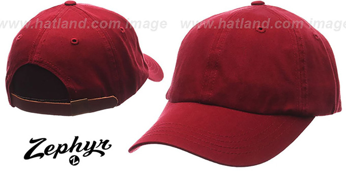 Blank 'DADDY STRAPBACK' Cardinal Hat Zephyr : pictured without stickers that these products are shipped with