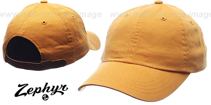 Blank 'DADDY STRAPBACK' Gold Hat Zephyr : pictured without stickers that these products are shipped with