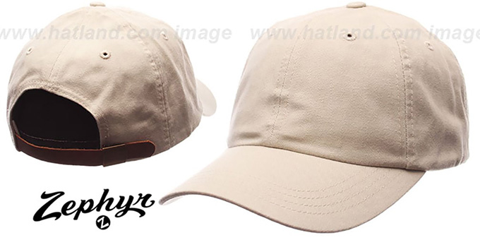 Blank 'DADDY STRAPBACK' Ivory Hat Zephyr : pictured without stickers that these products are shipped with