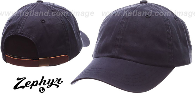 Blank 'DADDY STRAPBACK' Navy Hat Zephyr : pictured without stickers that these products are shipped with