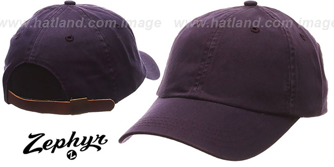 Blank 'DADDY STRAPBACK' Purple Hat Zephyr : pictured without stickers that these products are shipped with