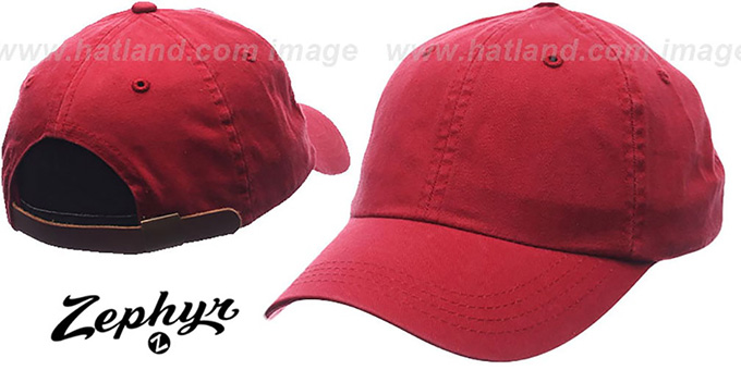 Blank 'DADDY STRAPBACK' Red Hat Zephyr : pictured without stickers that these products are shipped with