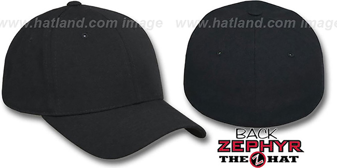 Blank  DH BLACK  Fitted Hat by Zephyr 00f731e9b4fb