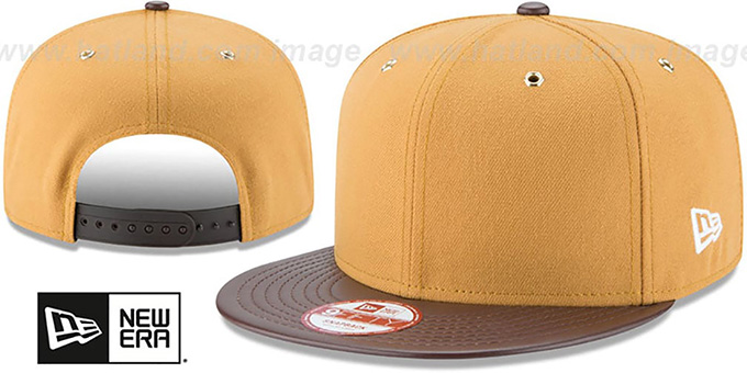 Blank 'METAL HOOK SNAPBACK' Wheat-Brown Hat by New Era : pictured without stickers that these products are shipped with
