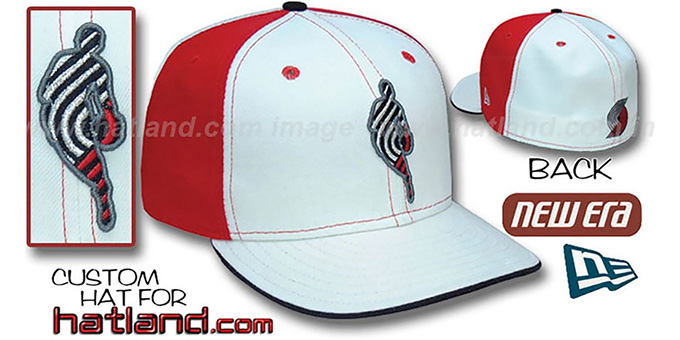 Blazers 'INSIDER PINWHEEL' White-Red Fitted Hat by New Era