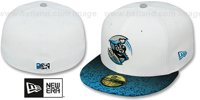 Blue Claws 'GRADIENT HOOK' Fitted Hat by New Era : pictured without stickers that these products are shipped with