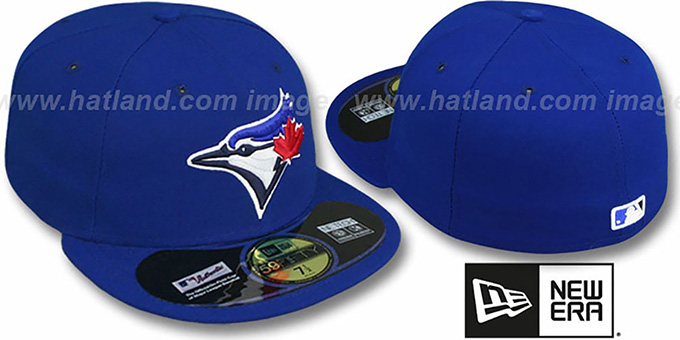 Blue Jays  'PERFORMANCE GAME' Hat by New Era : pictured without stickers that these products are shipped with