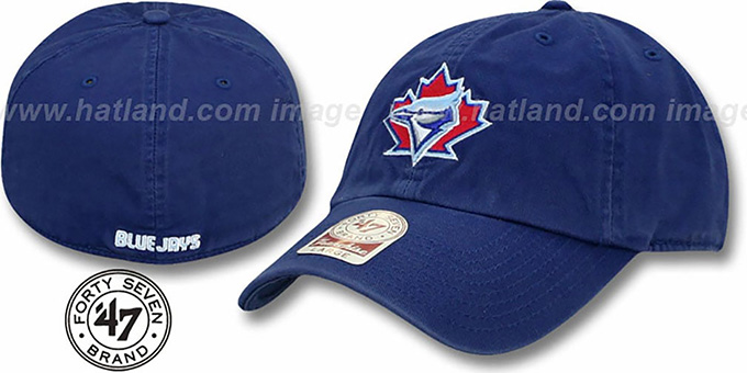 Blue Jays 1981 COOP 'MLB FRANCHISE' Royal Hat by 47 Brand : pictured without stickers that these products are shipped with