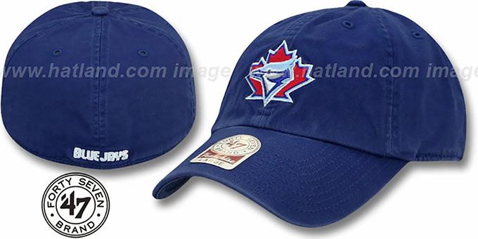 242902784a Toronto Blue Jays 1981 COOP MLB FRANCHISE Royal Hat by 47 Brand