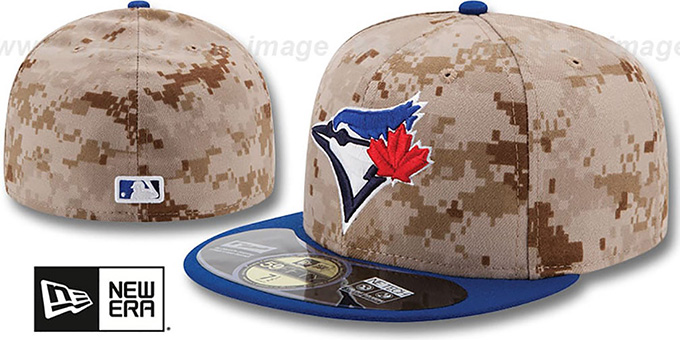 Blue Jays '2014 STARS N STRIPES' Fitted Hat by New Era : pictured without stickers that these products are shipped with