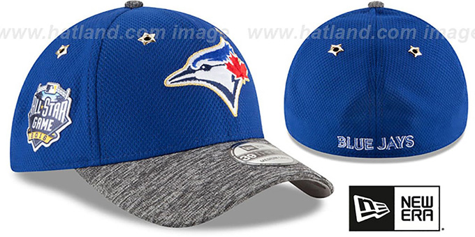 Blue Jays '2016 MLB ALL-STAR GAME FLEX' Hat by New Era : pictured without stickers that these products are shipped with