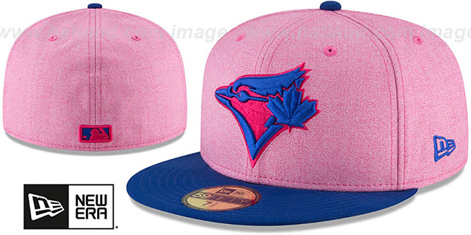 88114b4c4eb Blue Jays  2018 MOTHERS DAY  Pink-Royal Fitted Hat by New Era