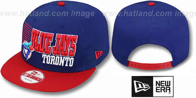 Blue Jays '2T COOP BORDERLINE SNAPBACK' Royal-Red Hat by New Era : pictured without stickers that these products are shipped with